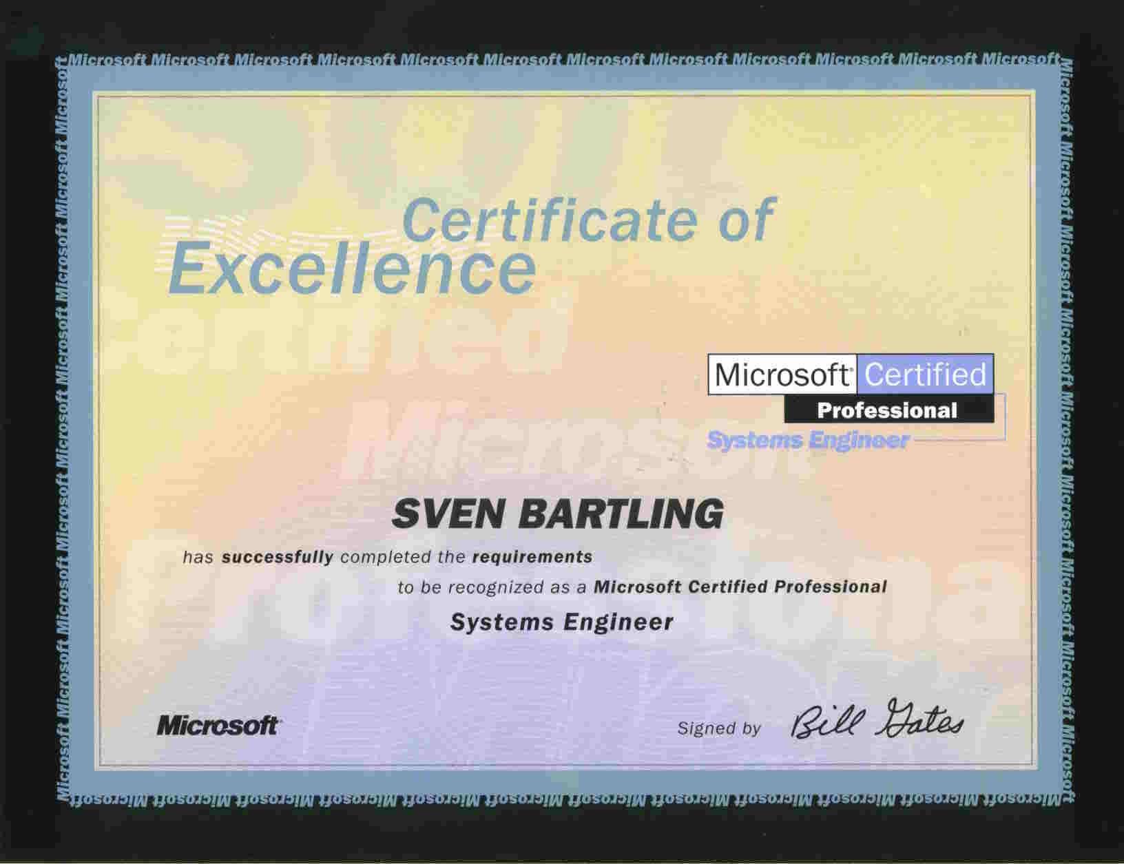 Zertifikate Von Sven Bartling Freiberuflicher It Trainer Edv Dozent